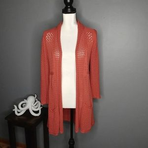 Anthro Angel of the North Open Knit Cardigan